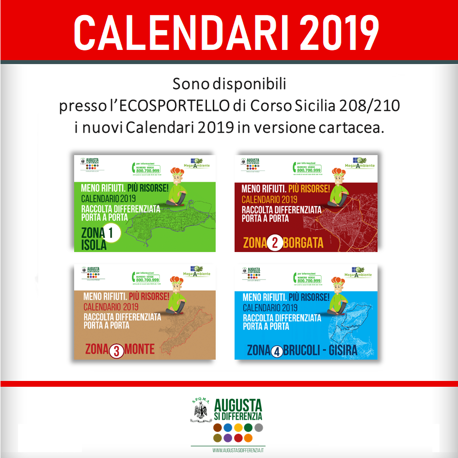 Raccolta Differenziata Siracusa Calendario 2019.News Augusta Si Differenzia